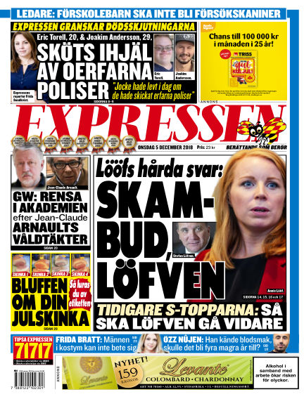 Expressen December 05, 2018 00:00