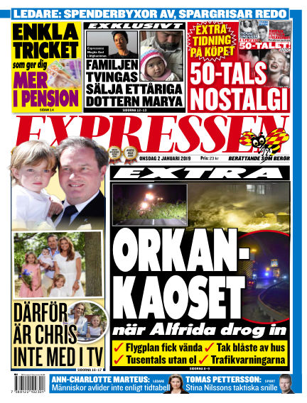 Expressen January 02, 2019 00:00