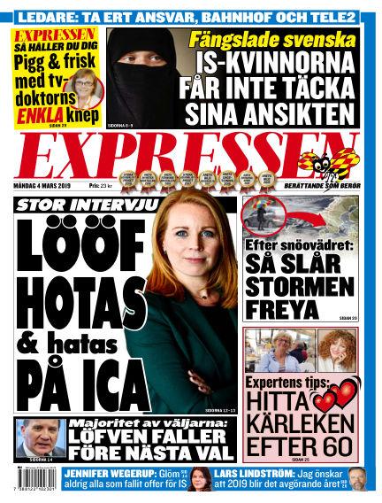 Expressen March 04, 2019 00:00
