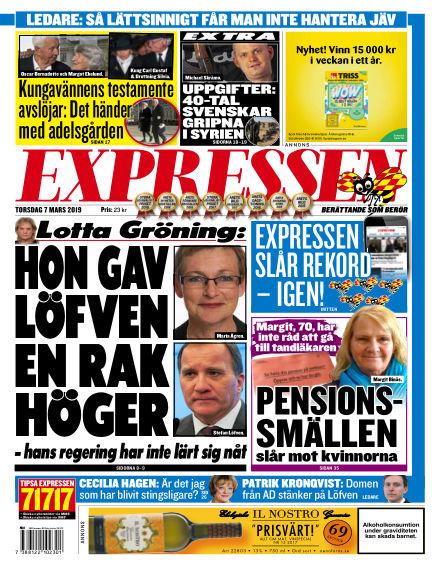 Expressen March 07, 2019 00:00