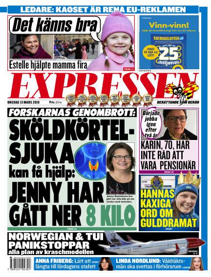 Expressen March 13, 2019 00:00