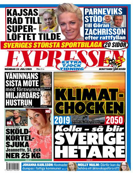Expressen July 22, 2019 00:00