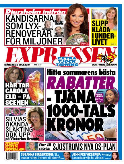 Expressen July 29, 2019 00:00
