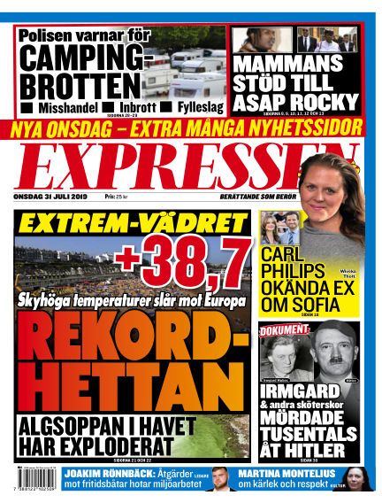 Expressen July 31, 2019 00:00