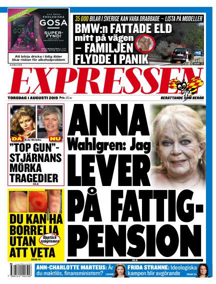 Expressen August 01, 2019 00:00