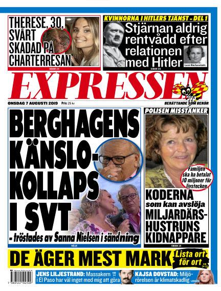Expressen August 07, 2019 00:00