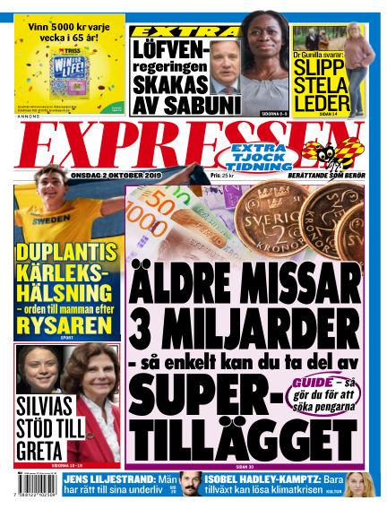 Expressen October 02, 2019 00:00