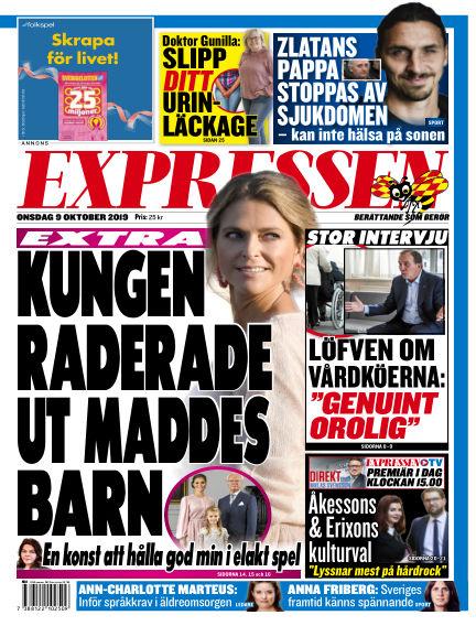 Expressen October 09, 2019 00:00