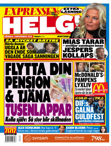 Expressen November 03, 2019 00:00