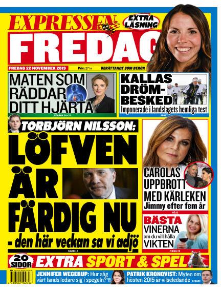Expressen November 22, 2019 00:00