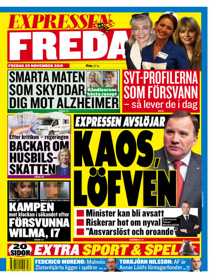 Expressen November 29, 2019 00:00