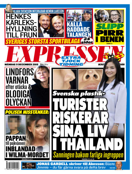 Expressen December 09, 2019 00:00