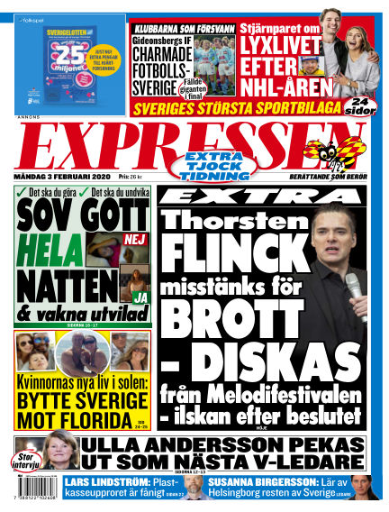 Expressen February 03, 2020 00:00