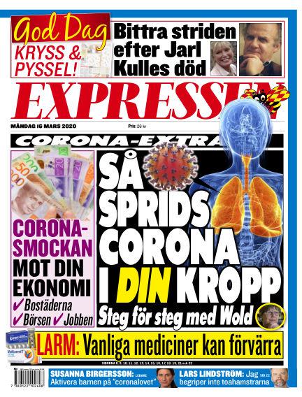Expressen March 16, 2020 00:00