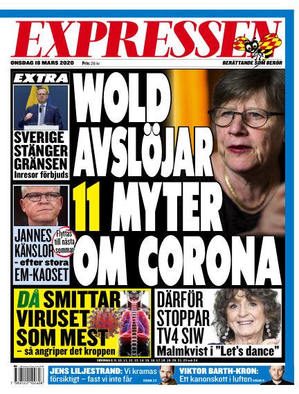 Expressen March 18, 2020 00:00