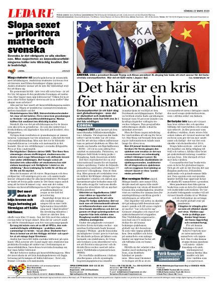 Expressen March 22, 2020 00:00