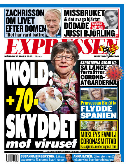 Expressen March 30, 2020 00:00