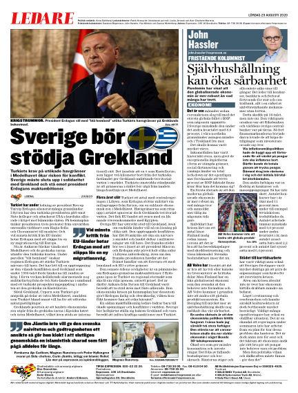 Expressen August 29, 2020 00:00