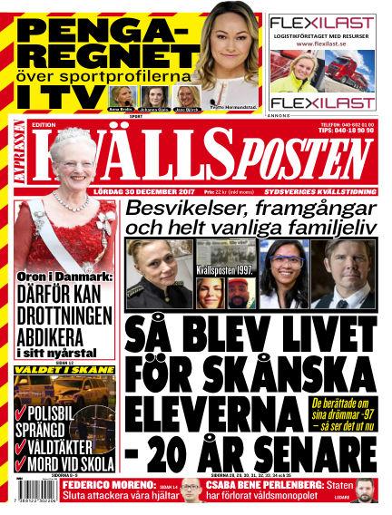 Kvällsposten December 30, 2017 00:00