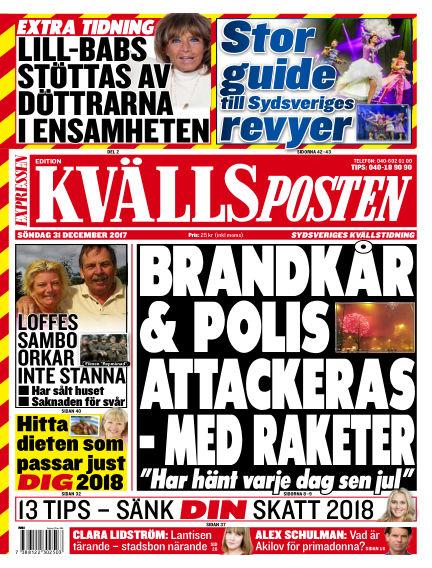 Kvällsposten December 31, 2017 00:00