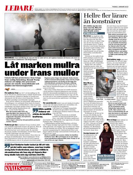 Kvällsposten January 02, 2018 00:00
