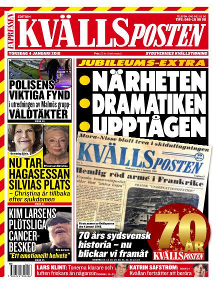 Kvällsposten January 04, 2018 00:00