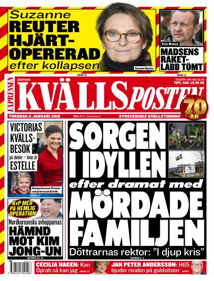 Kvällsposten January 11, 2018 00:00