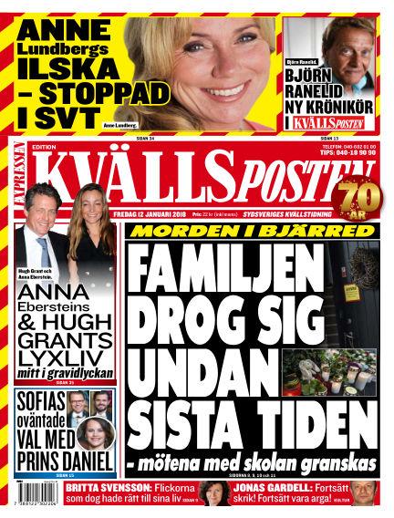 Kvällsposten January 12, 2018 00:00