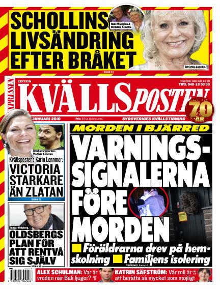 Kvällsposten January 14, 2018 00:00