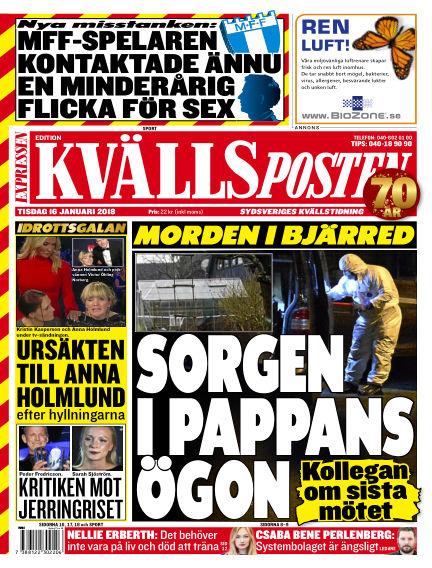 Kvällsposten January 16, 2018 00:00