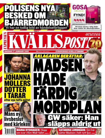 Kvällsposten January 17, 2018 00:00