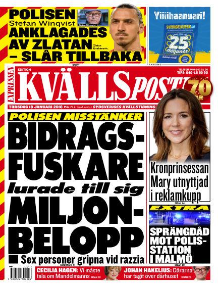 Kvällsposten January 18, 2018 00:00