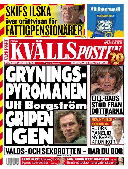 Kvällsposten January 19, 2018 00:00
