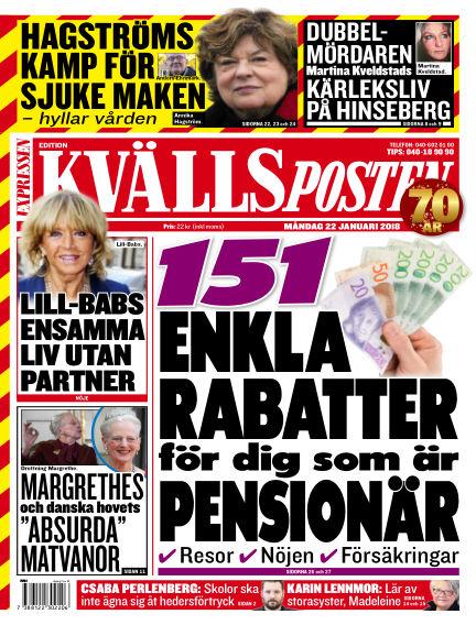 Kvällsposten January 22, 2018 00:00