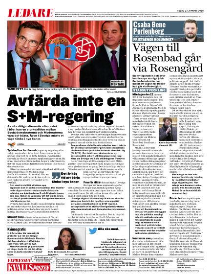 Kvällsposten January 23, 2018 00:00