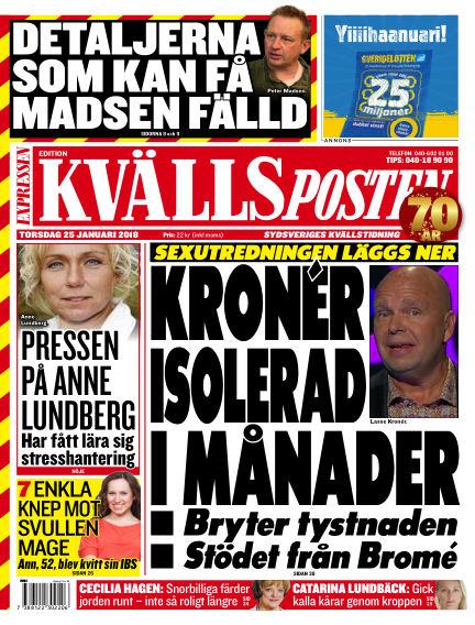 Kvällsposten January 25, 2018 00:00
