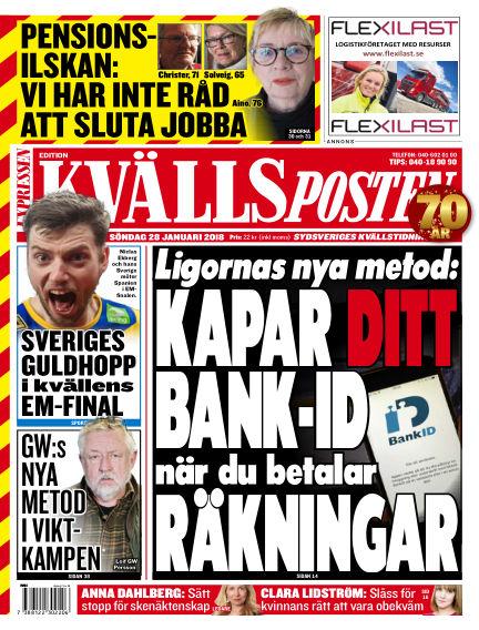 Kvällsposten January 28, 2018 00:00
