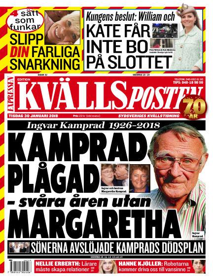 Kvällsposten January 30, 2018 00:00