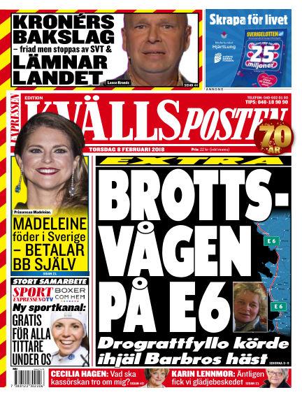 Kvällsposten February 08, 2018 00:00