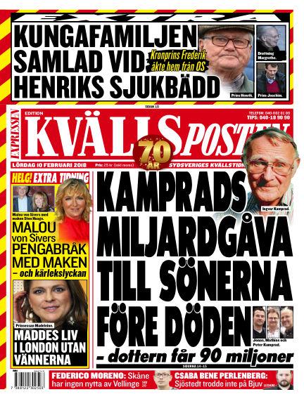 Kvällsposten February 10, 2018 00:00