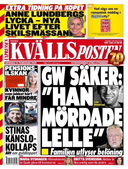 Kvällsposten February 14, 2018 00:00