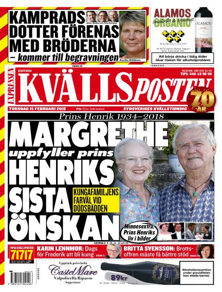 Kvällsposten February 15, 2018 00:00