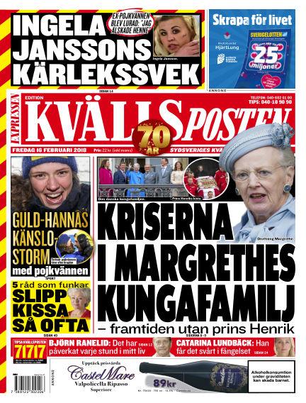 Kvällsposten February 16, 2018 00:00