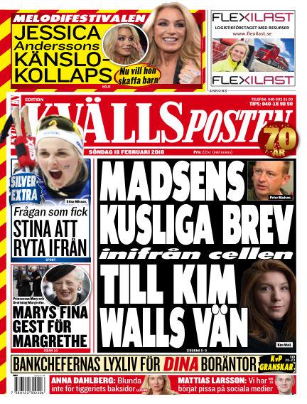 Kvällsposten February 18, 2018 00:00