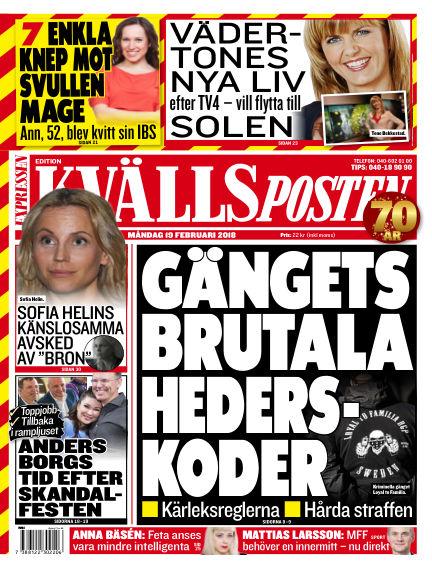 Kvällsposten February 19, 2018 00:00