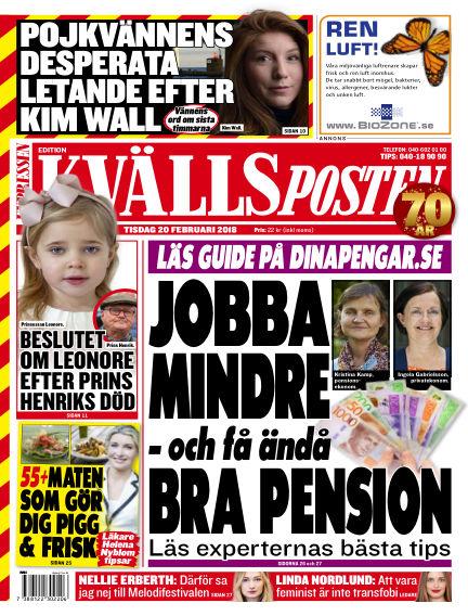 Kvällsposten February 20, 2018 00:00