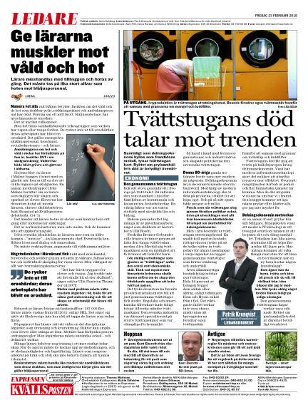 Kvällsposten February 23, 2018 00:00