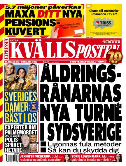 Kvällsposten February 26, 2018 00:00
