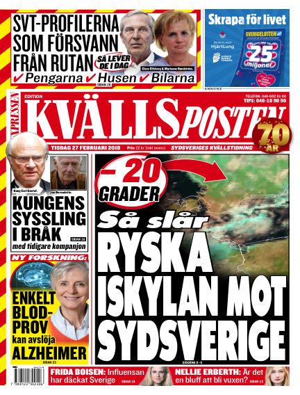 Kvällsposten February 27, 2018 00:00