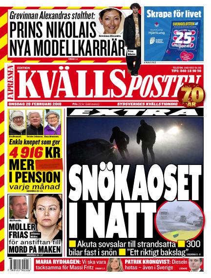 Kvällsposten February 28, 2018 00:00
